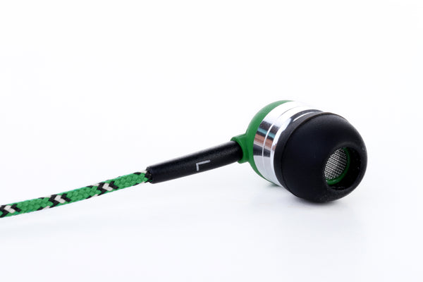 Green Earbuds with Microphone & Remote Control