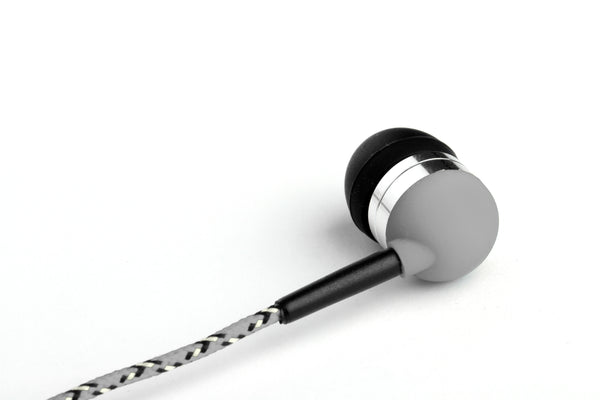 Grey Earbuds with Microphone & Remote Control