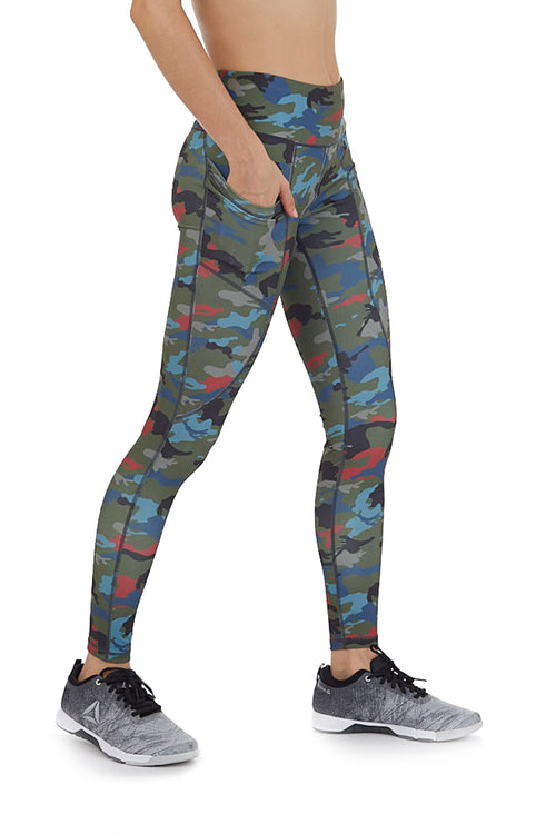 PHONE POCKET LEGGING IN CAMOUFLAGE