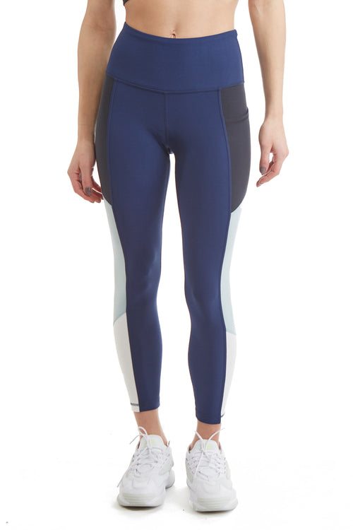 "7/8 24"" INSEAM MULTI SIDE PANEL LEGGING-DUSK BLUE"