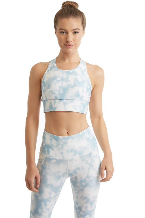 MESH RACER BACK SPORTS BRA-TIE DYE