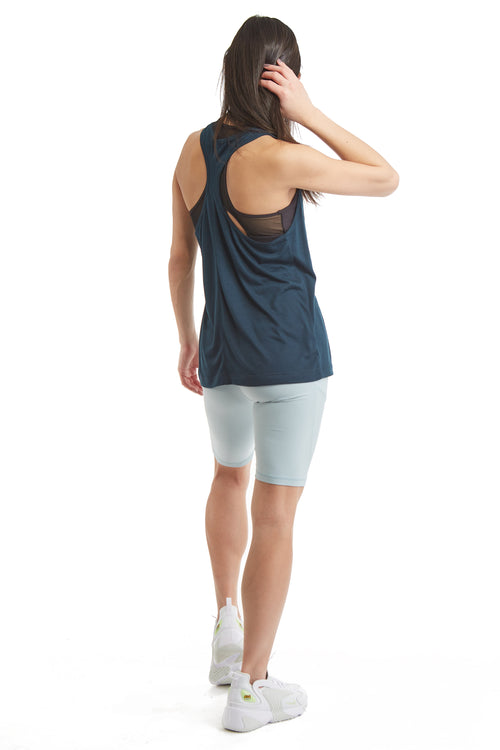 "9"" INSEAM SHORTS WITH SIDE PHONE POCKETS-MISTY BLUE"
