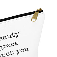 Load image into Gallery viewer, She's Beauty She's Grace Makeup Bag