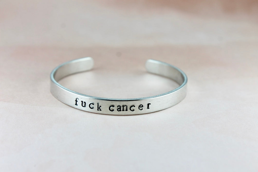 Fuck Cancer Cuff Bracelet