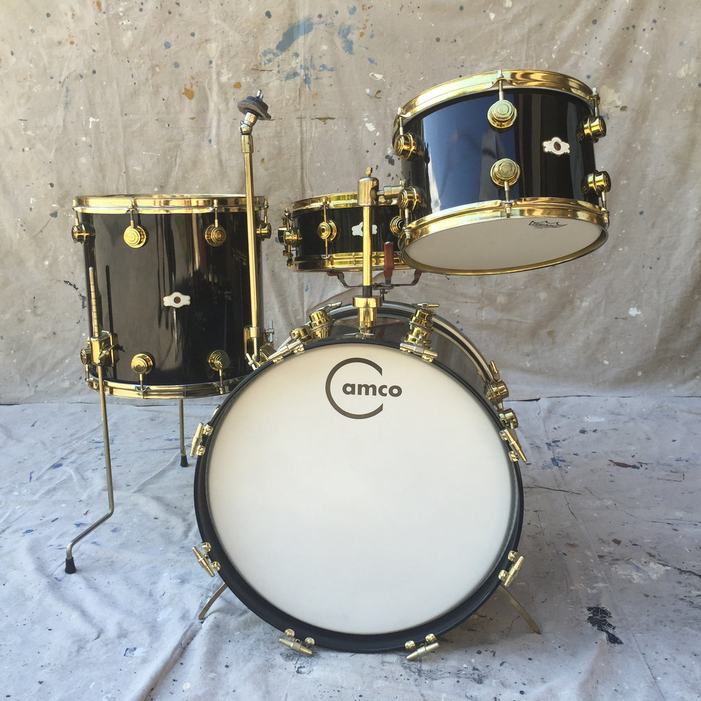 Chbo Drums Camco La Black W Gold Hdware Call For Price