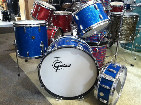 Gretsch Round Badge '60's Blue Sparkle