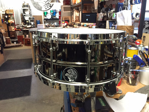 CHBO Custom Black Brass Snare Drum