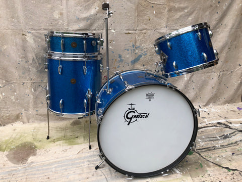 Gretsch '62 Round Badge Name Brand 4 pc.Blue Sparkle