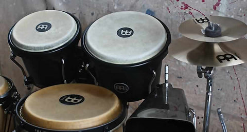"Meinl Percussion 6 3/4""x8"" designer wood bongo phantom black, Headliner Series"
