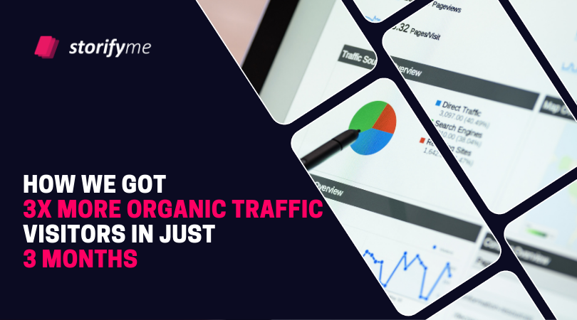 How we got 3x more organic traffic visitors in just 3 months
