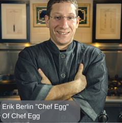 chef egg, erik berlin, chef egg wearing apron