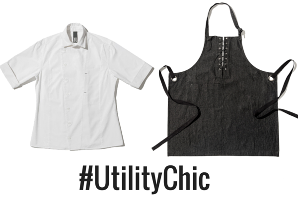 chef shirt, chef apron, designer shannon reed