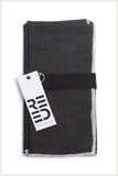 Designer Napkin - Black Denim with White Trim