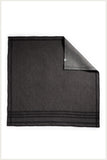 Designer Napkin - Black Denim with Black Embroidery