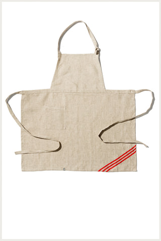 Linen Bib Apron with Screen Print