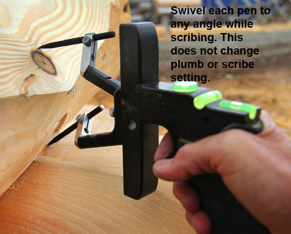 Pens swivel to any angles you need.