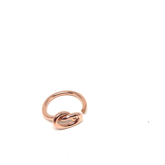 open love knot - rose gold - dani keith designs jewelry