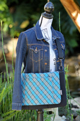 Pocket Cover, Blue Square Plaid