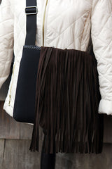 Fringe Cover, Dark Brown