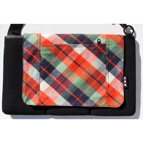 Pocket Cover, Orange and Blue Plaid