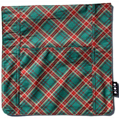 Pocket Cover, Teal and Cherry Plaid