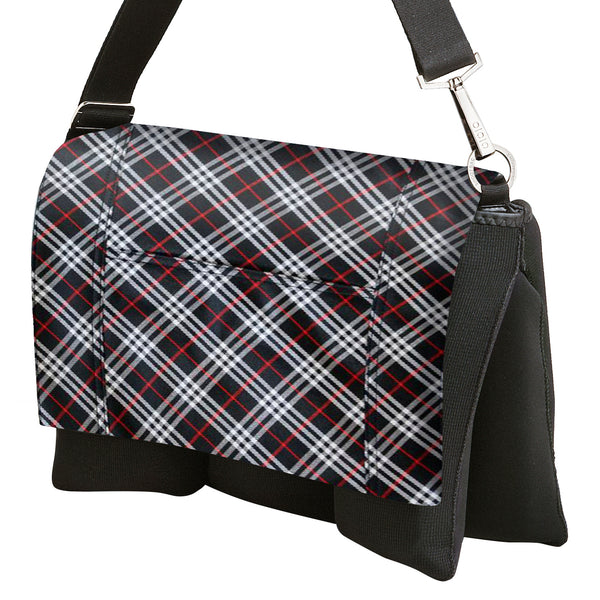 Pocket Cover Black and Maraschino Plaid