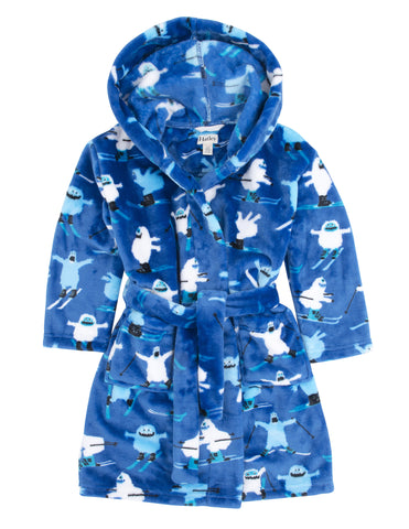 Hatley Fuzzy Ski Monsters Fleece Robe