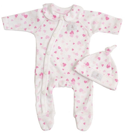 Confetti Heart Sleepsuit & Heart Set