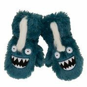 Ice Monster Fuzzy Mittens