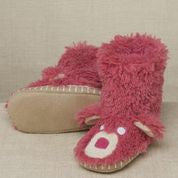 Pink Bear Kids Slippers