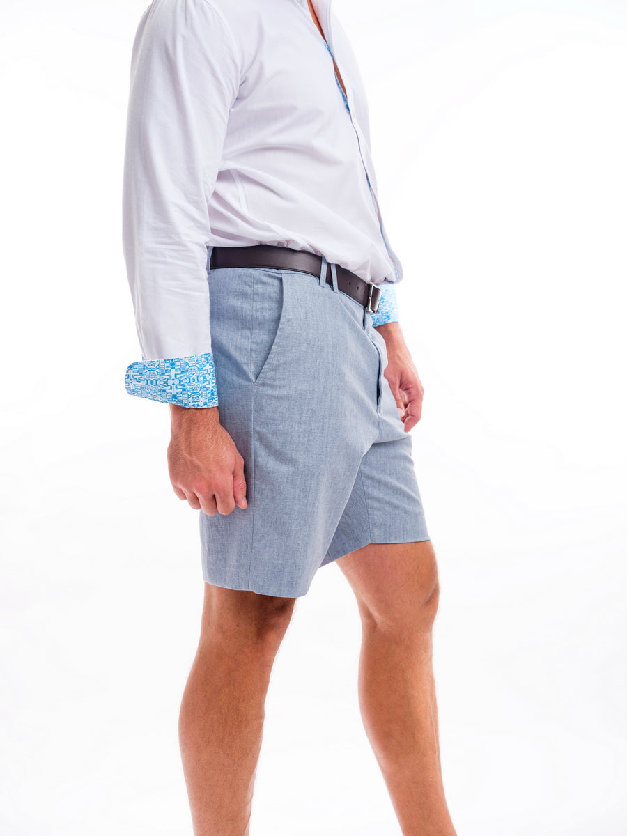 Bermuda Shorts in Cotton / Linen Blend