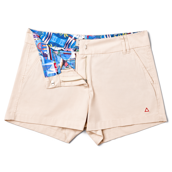 Ladies Beach Beige Bermuda Boaters