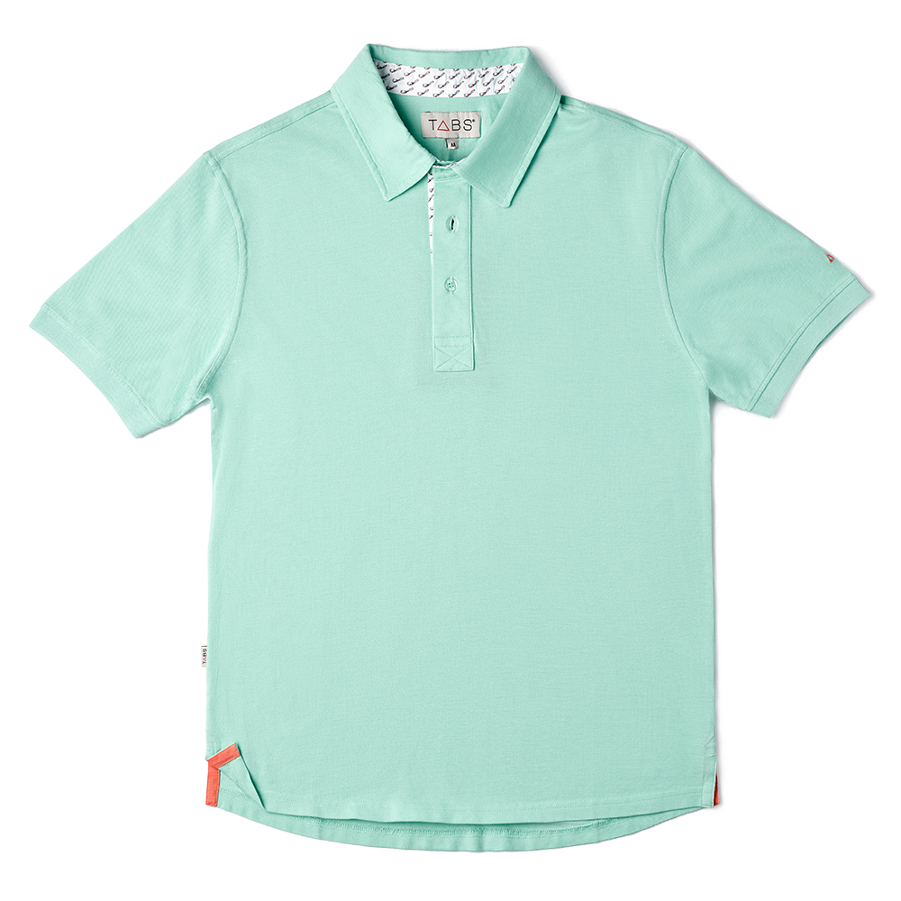 TABS mens Lagoon Green polo