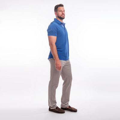 Stretch Cotton Chinos - Cahow Grey