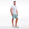 TABS Town Cut Teal stretch cotton Bermuda shorts