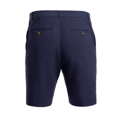 TABS Mens Salty Navy cotton linen Bermuda shorts