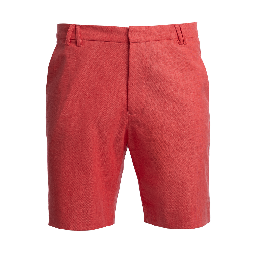 TABS Mens Red Coral cotton linen Bermuda shorts
