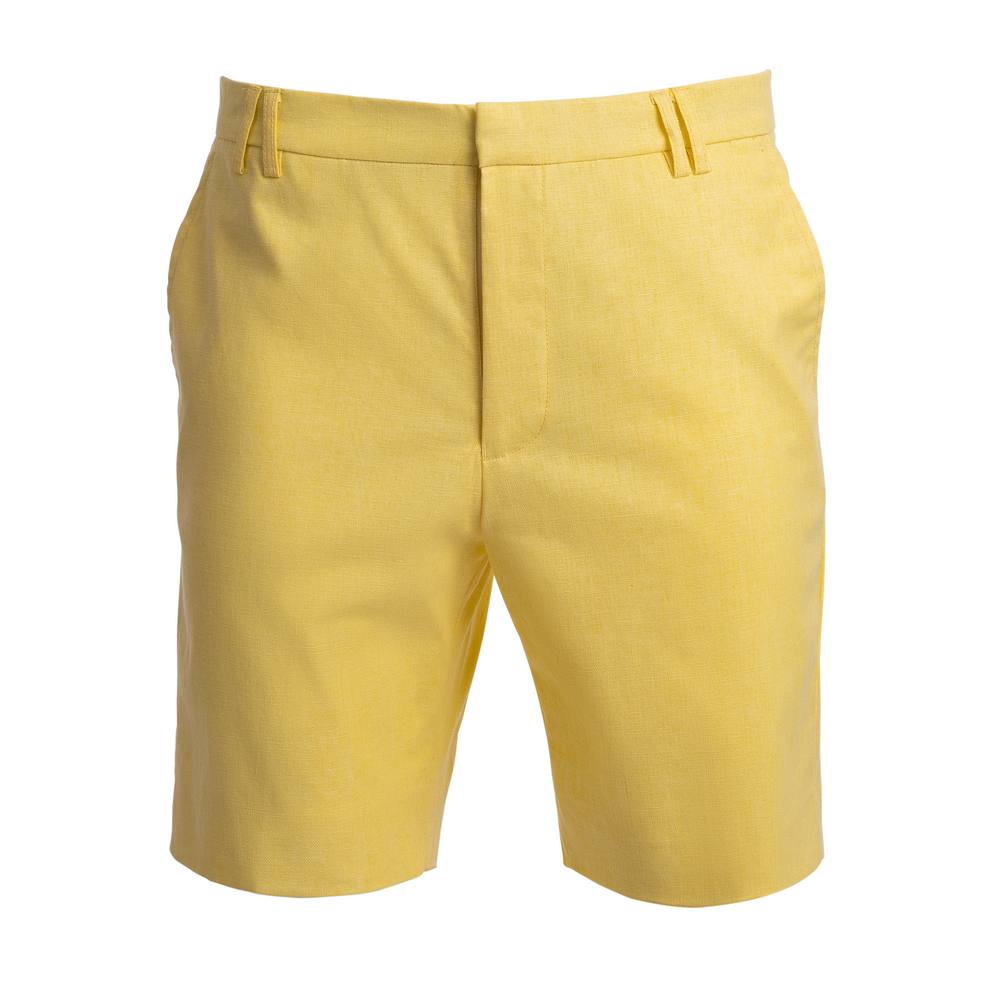 TABS Mens Kiskadee Yellow cotton linen Bermuda shorts
