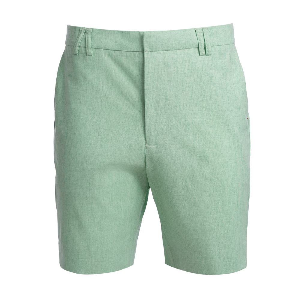 TABS Mens Sea Glass Green cotton linen Bermuda shorts