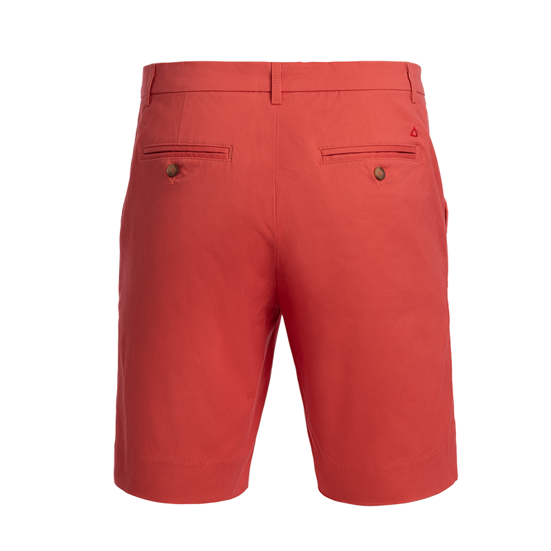 Rum Swizzle Red stretch cotton Bermuda shorts