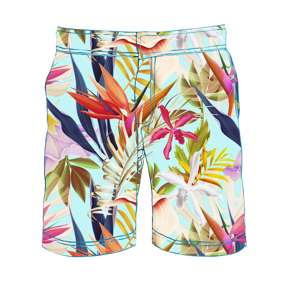 TABS botanical gardens swim shorts for men