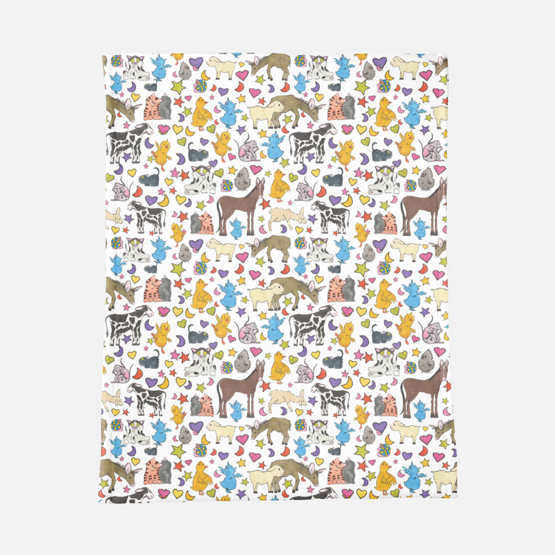 The Little Blue Ducky Minky Blanket