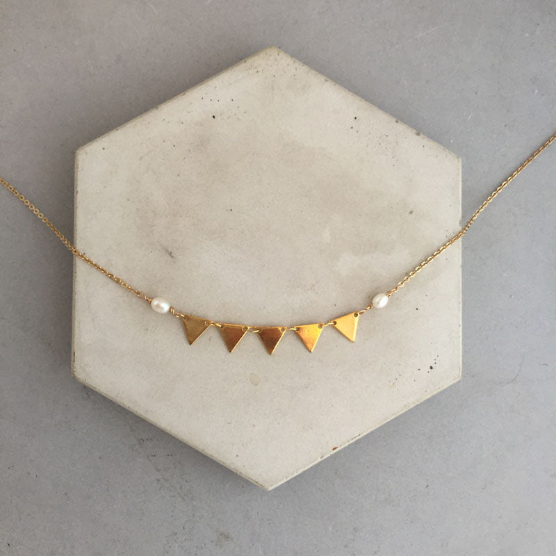 rebecca little jewellery triangle necklace