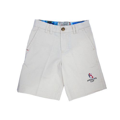 TABS Bermuda shorts for kids with America's Cup logo
