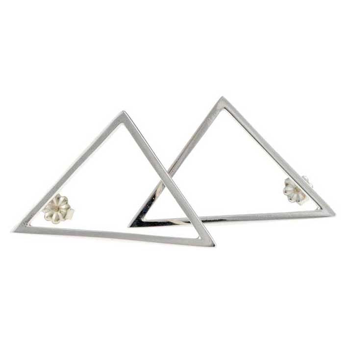 Airy Heights Sterling Bermuda Triangle Earrings