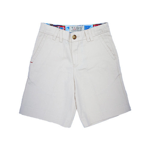 TABS | mini | Bermuda shorts | beach beige | front open