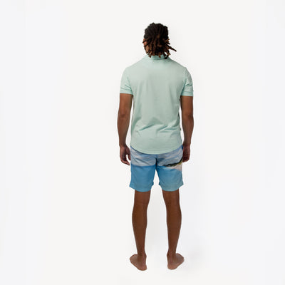 TABS mens polos Pompano Turquoise