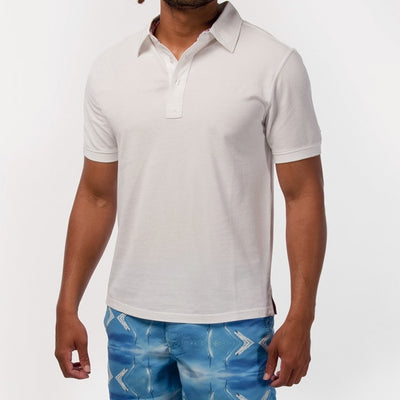 TABS mens Roof White polo