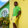 TABS Mens Loquat Yellow cotton Bermuda shorts