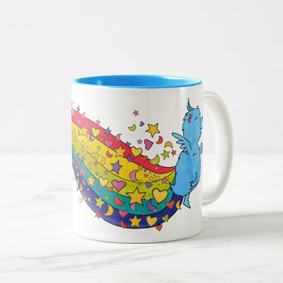 the little blue ducky blue mug